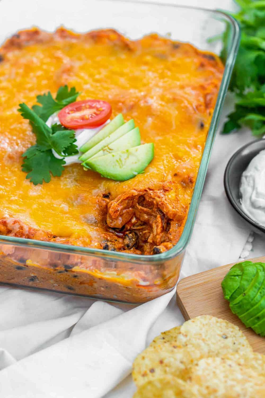 dip in glass pan