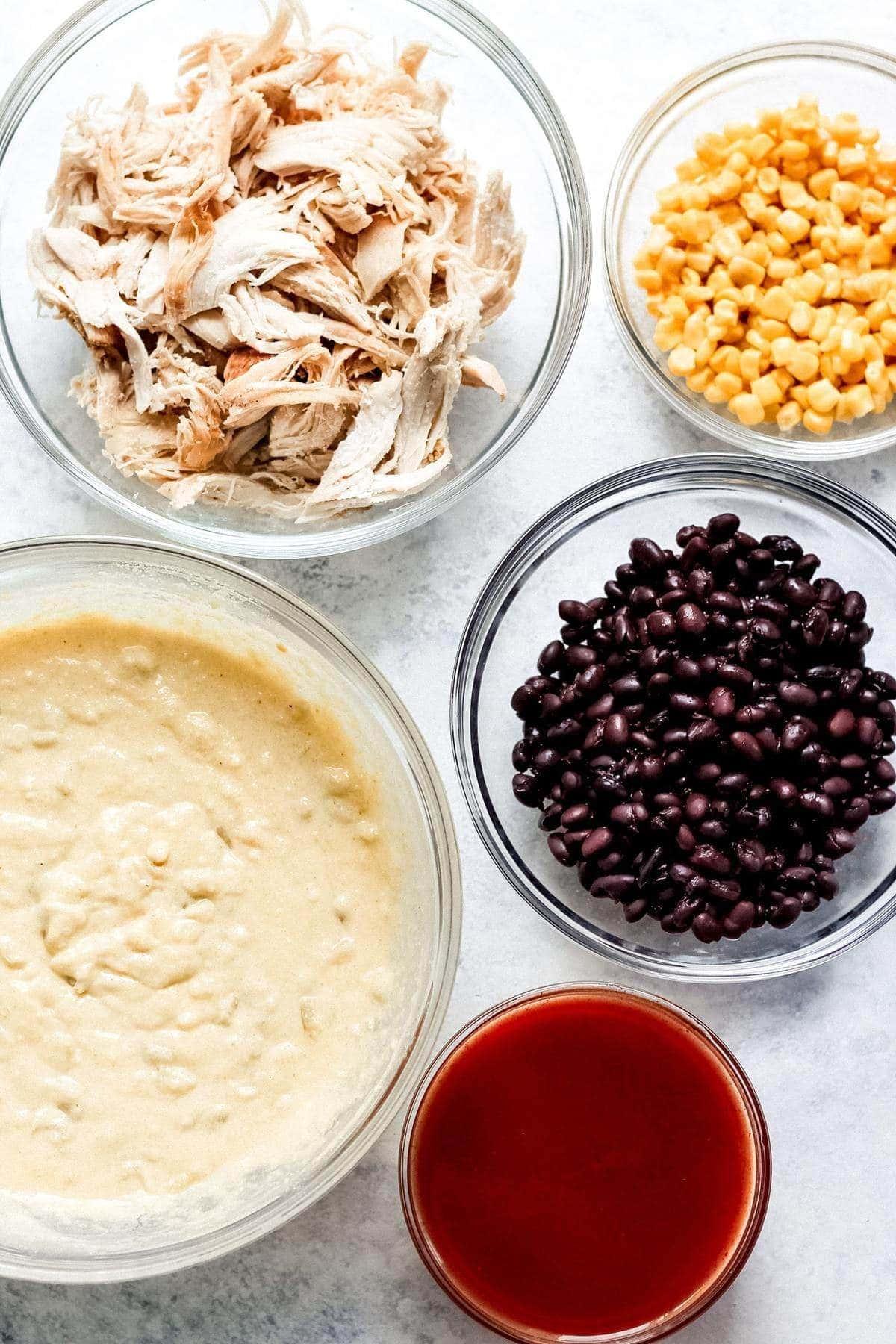 ingredients for chicken tamale casserole