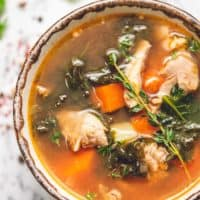 healthy chicken soup in bowl