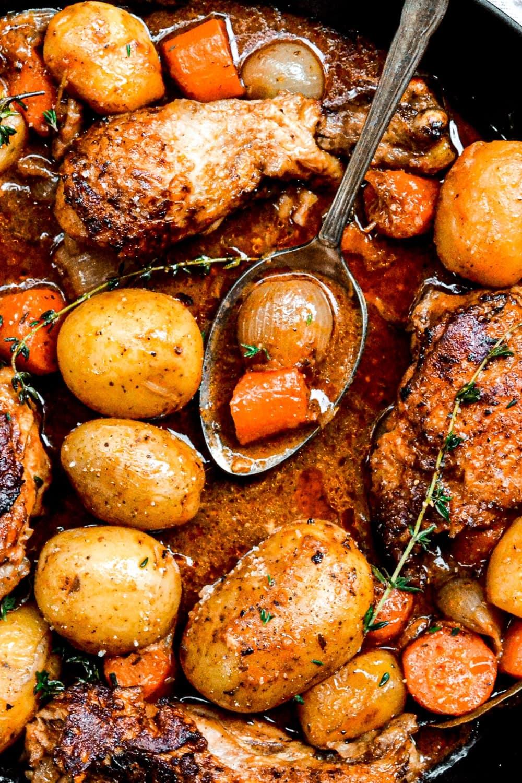 overhead shot of stew