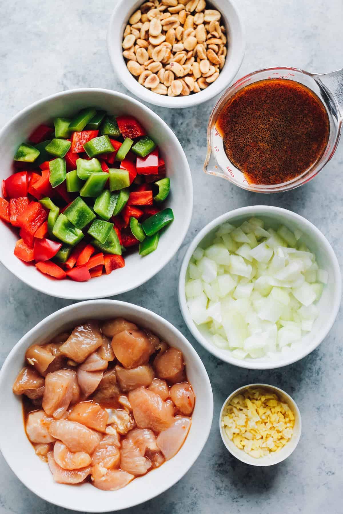 ingredients to make kung pao chicken recipe