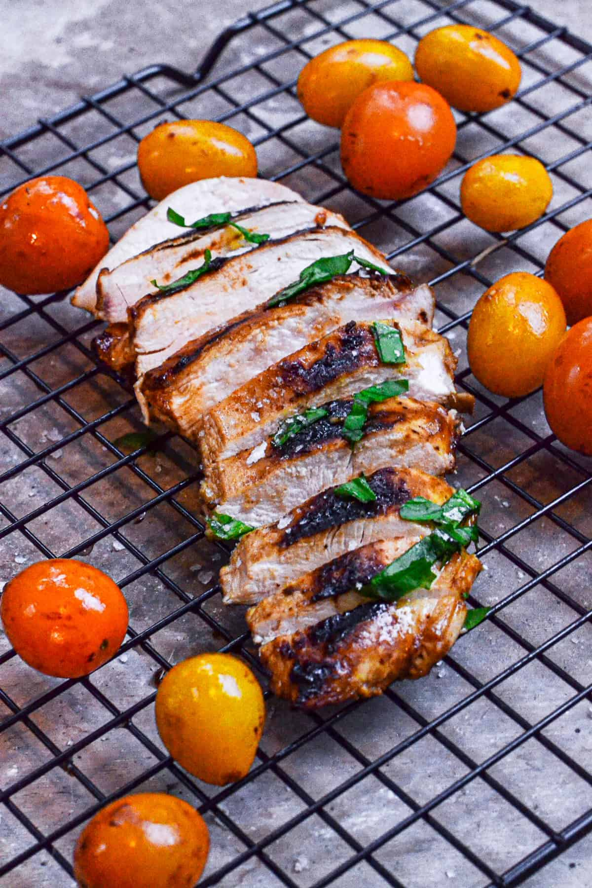 sliced grilled balsamic chicken