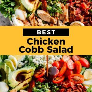 chicken cobb salad pinterest collage