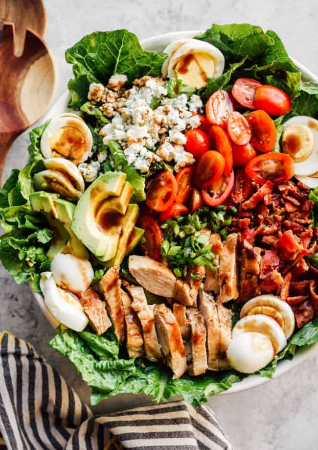dressed chicken cobb salad
