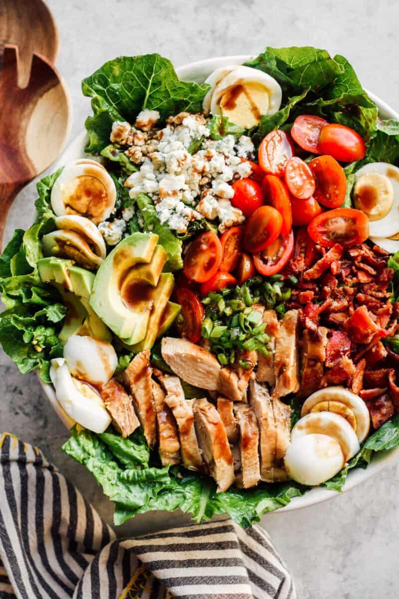 dressed chicken cobb salad