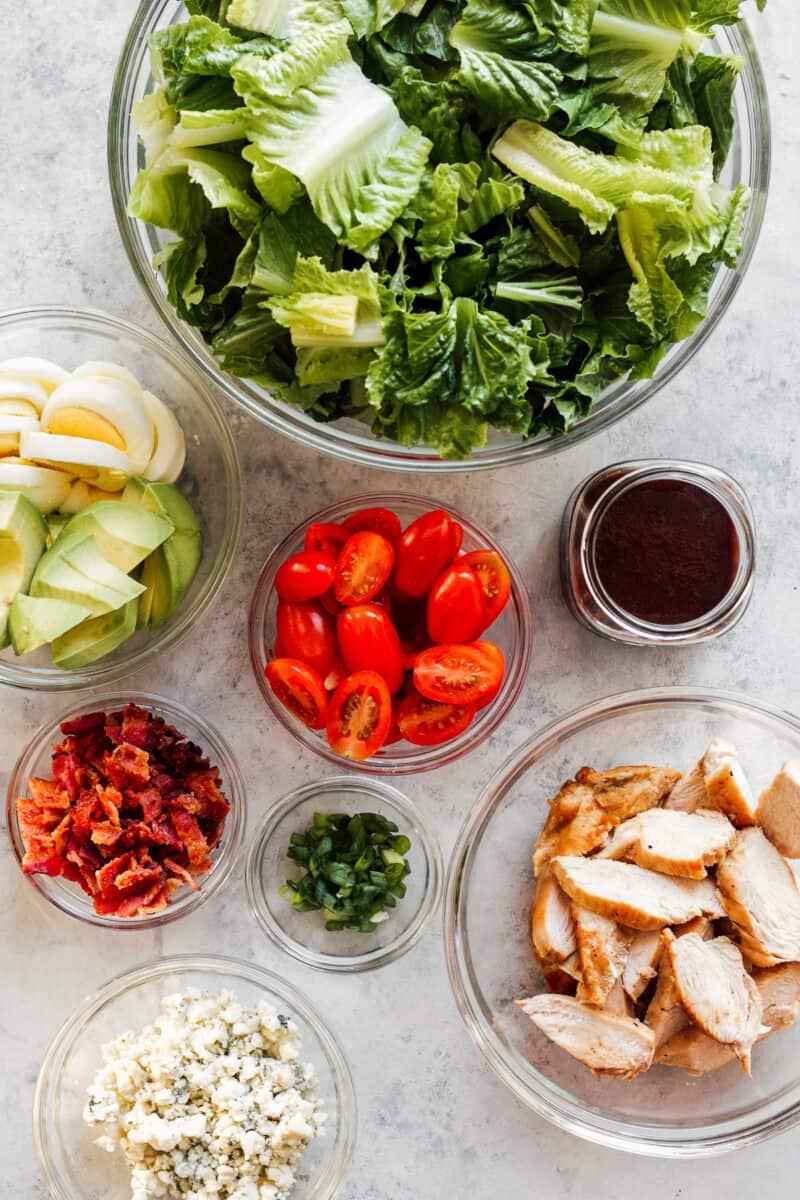 ingredients for chicken cobb salad