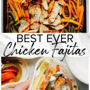 chicken fajitas pinterest collage