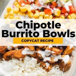 copycat chipotle burrito bowls pinterest