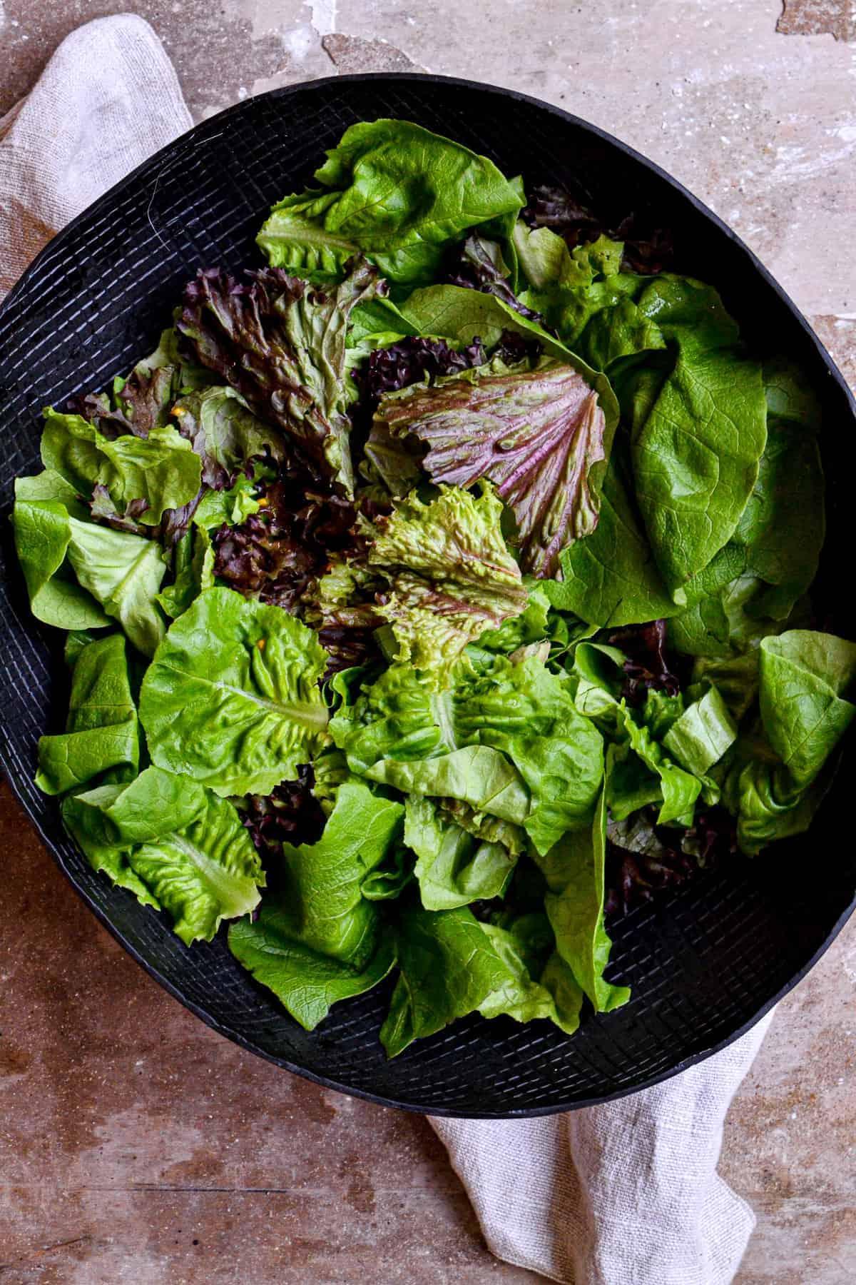 leafy greens in bowl
