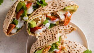 Chicken Avocado Pita Sandwich (Healthy Chicken Pitas)