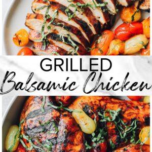 grilled balsamic chicken pinterest collage