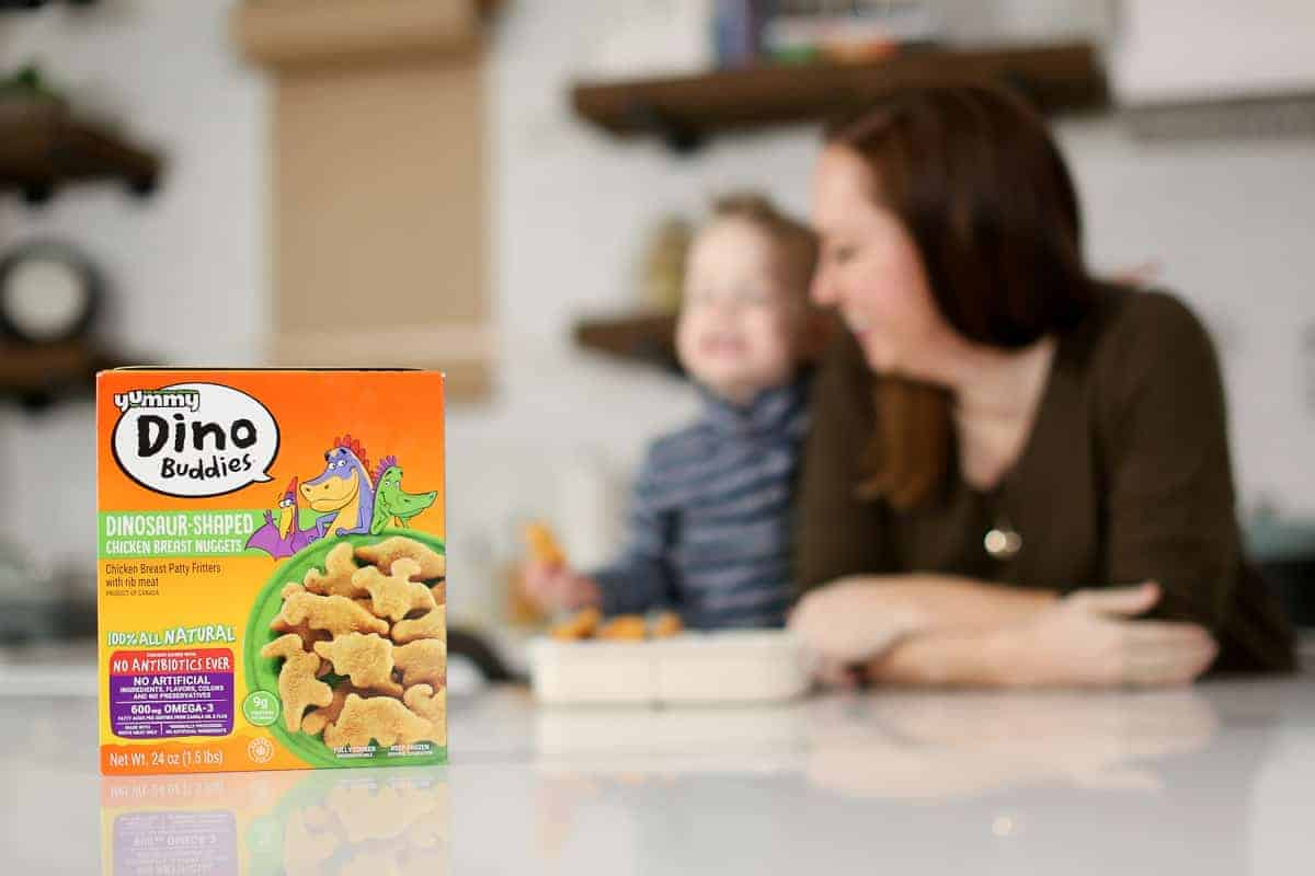 photo of dino buddies chicken nuggets box