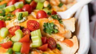 Buffalo Chicken Enchiladas (Creamy Chicken Enchiladas)