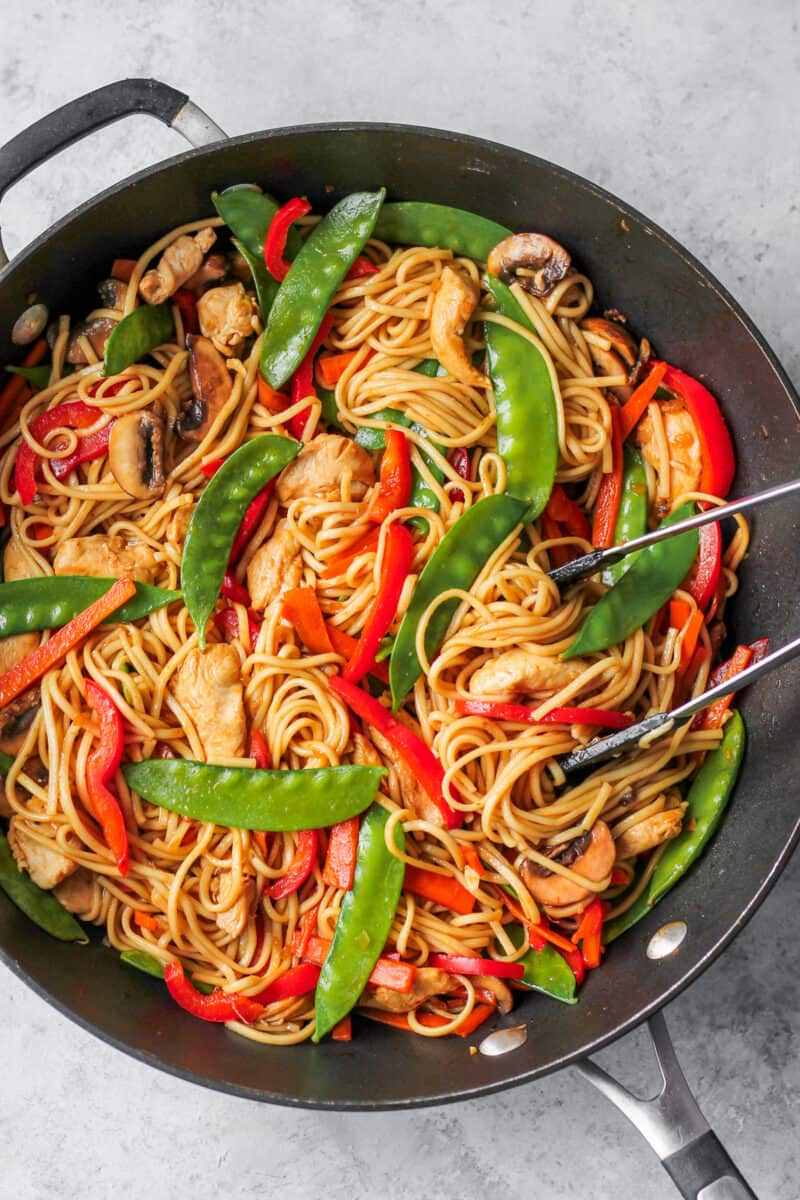 chicken low mein recipe in wok