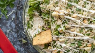 Caesar Salad Cream Cheese Chicken Dip Recipe (Chicken Caesar Salad Dip)