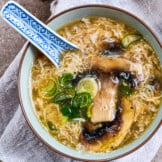 easy egg drop soup in bowl