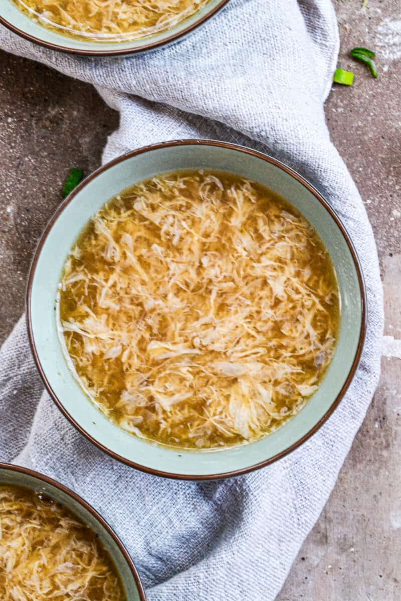 egg ribbons in soup