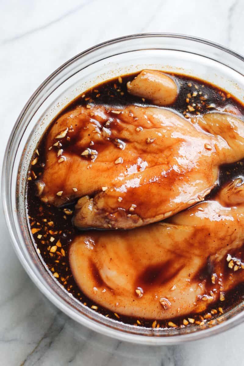 chicken in balsamic marinade