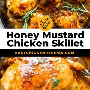 honey mustard chicken skillet pinterest