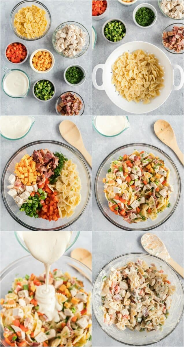 collage of how to make salad
