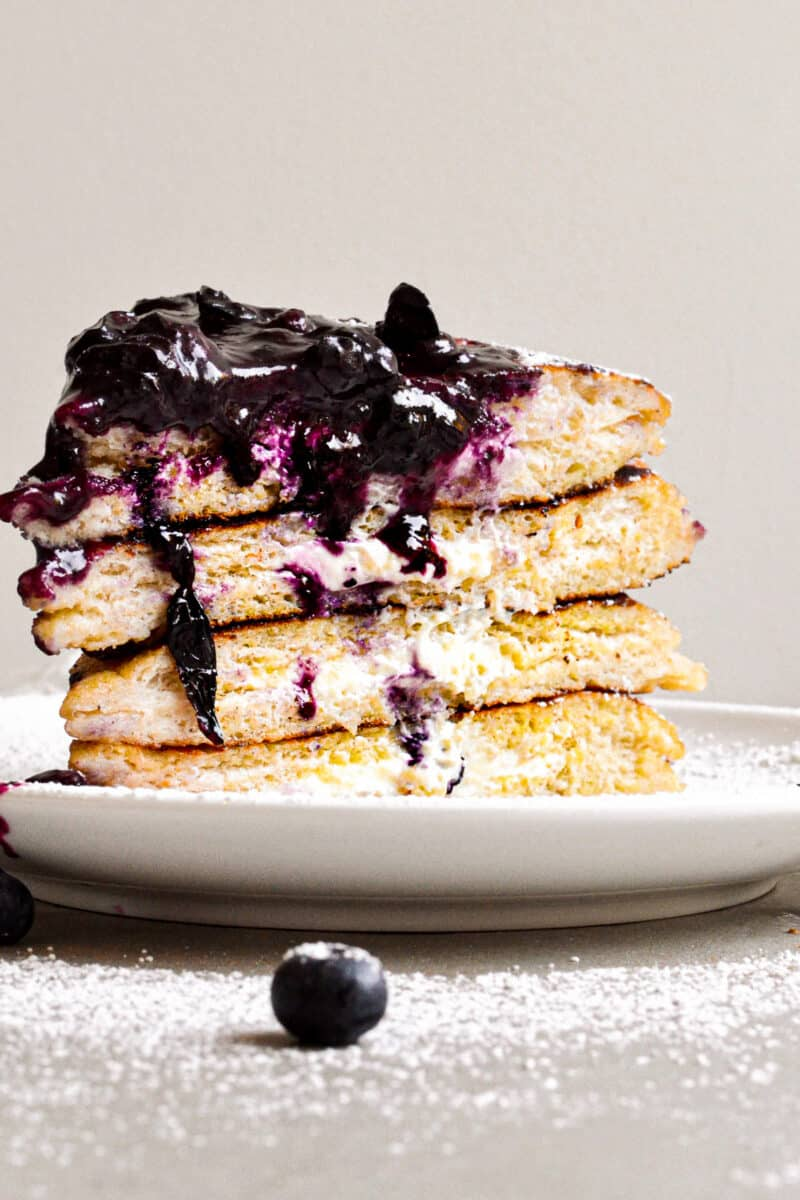 stack of stuffed french toast