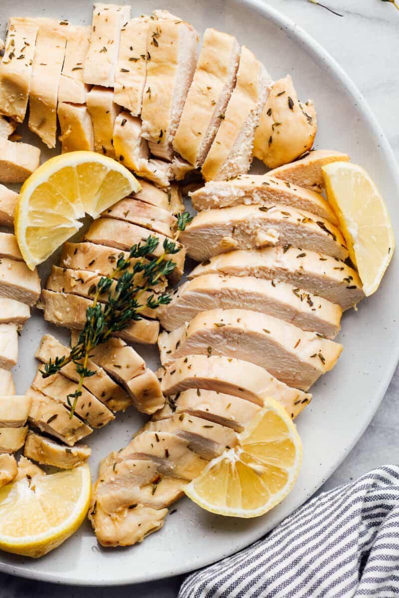 sliced baked lemon chicken