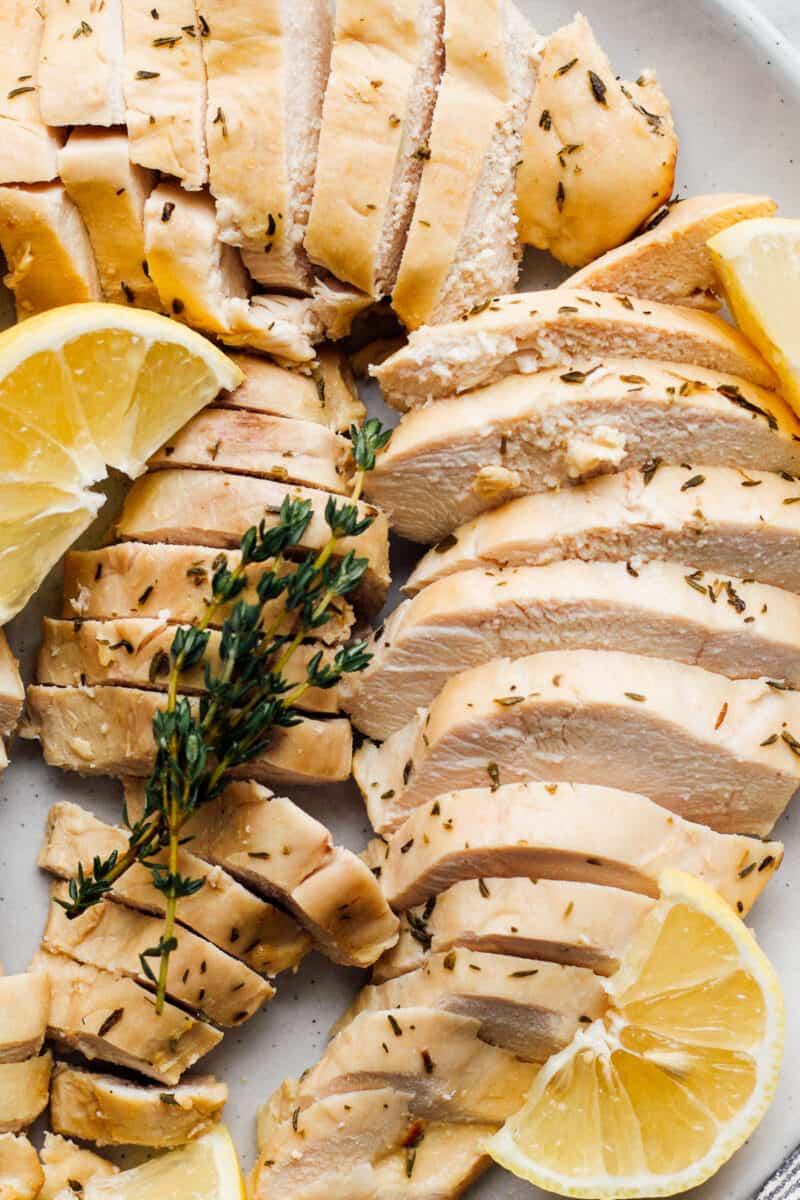 slices of lemon chicken