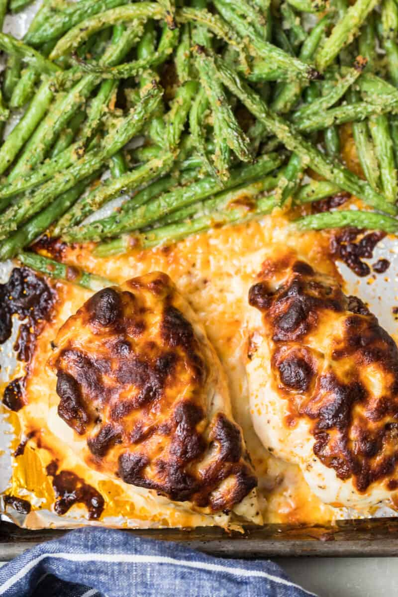 The baked Pesto Mozzarella Chicken