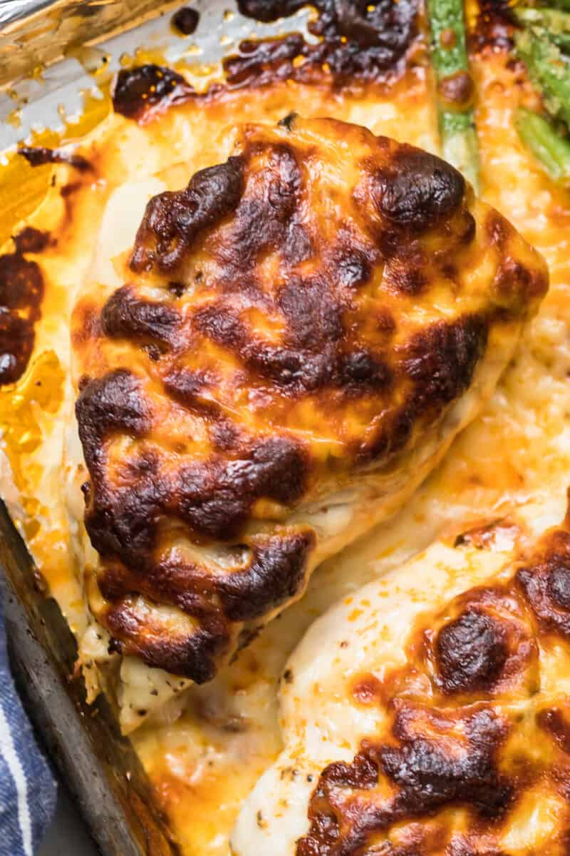 Close up of the baked chicken