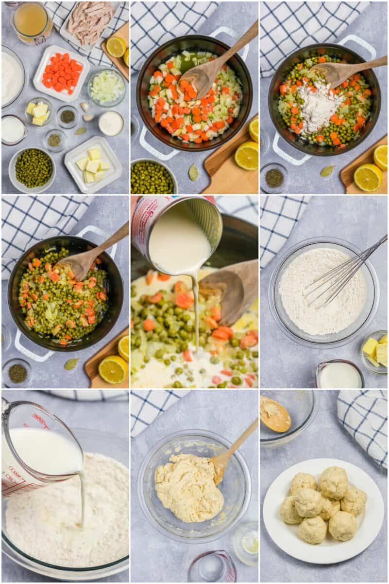 Step by step photos to show how to make the dish