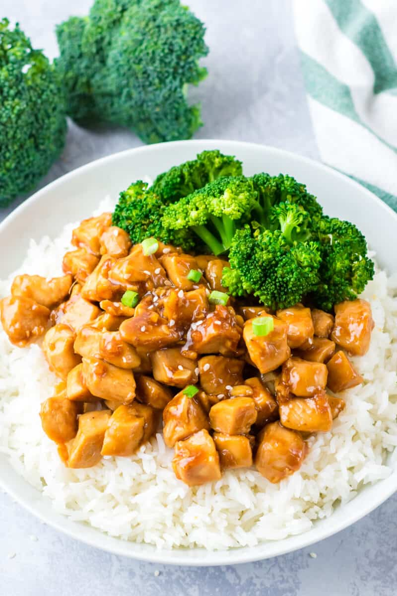 Teriyaki Chicken Breast with rice and broccoli