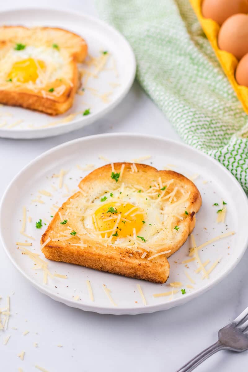 cheese on Eggs in a Hole