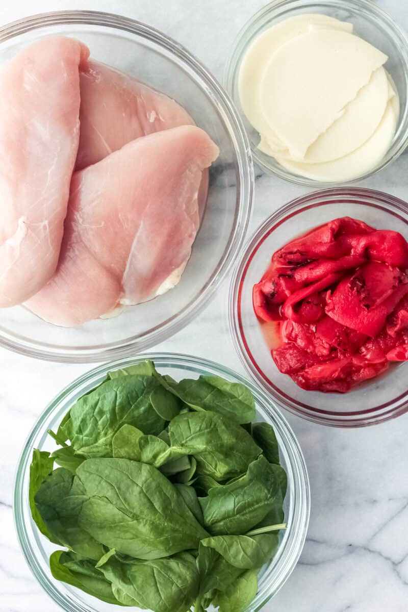 ingredients for stuffed chicken recipe