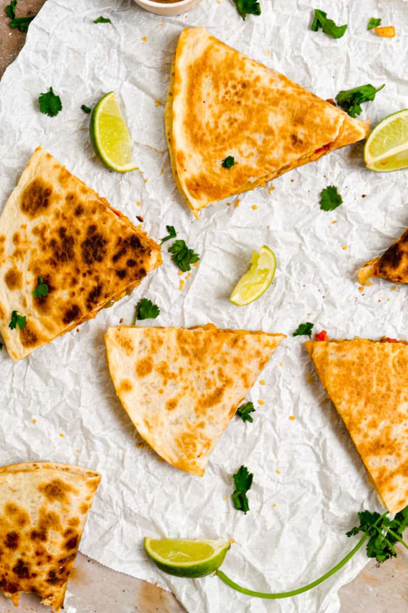 4 slices of Easy Chicken Quesadillas