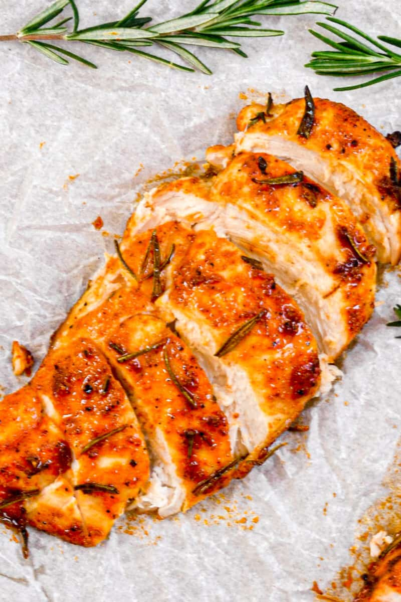 sliced Juicy Baked Chicken