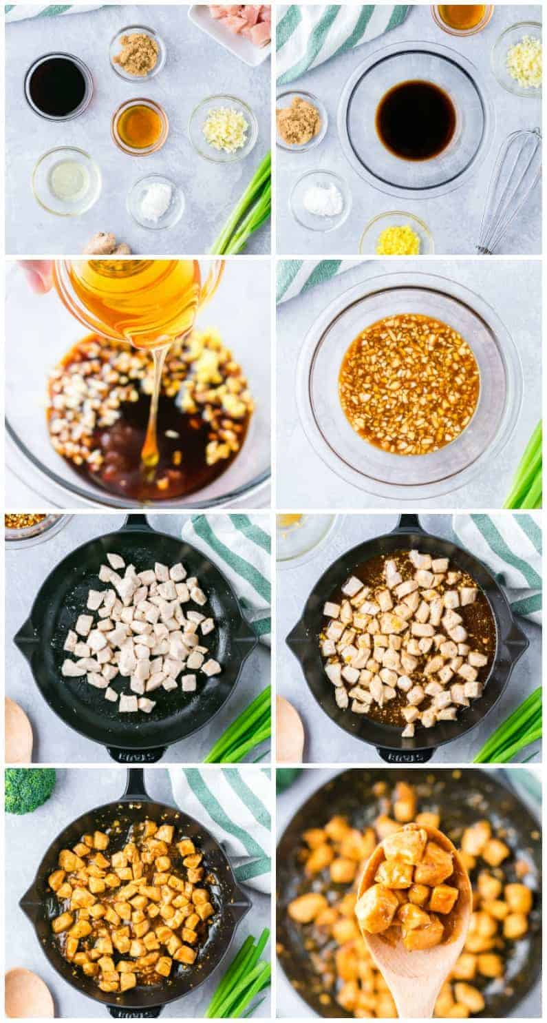 step by step photos of how to make easy teriyaki chicken breast