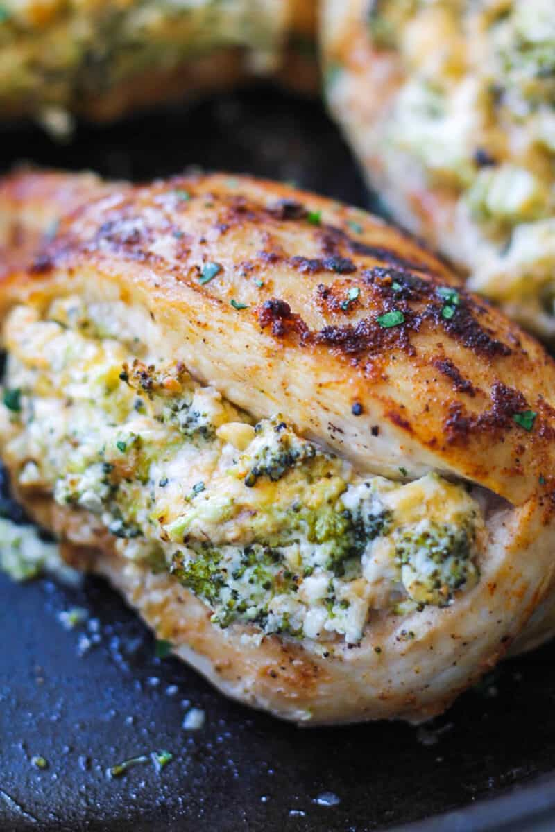 close up if Cheese Stuffed Chicken