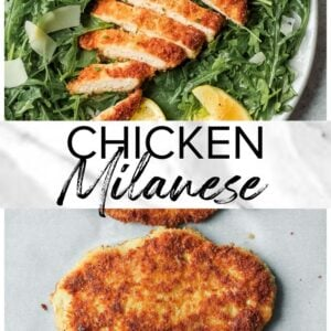 chicken milanese pinterest collage