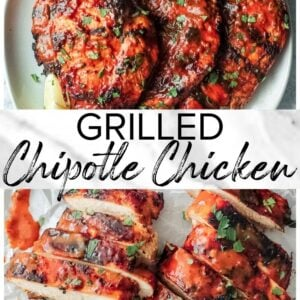 chipotle chicken pinterest collage