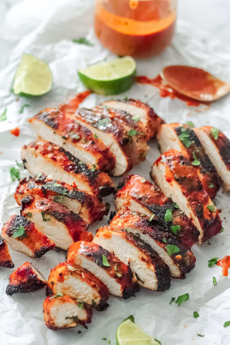 grilled chicken brushed with chipotle lime marinade