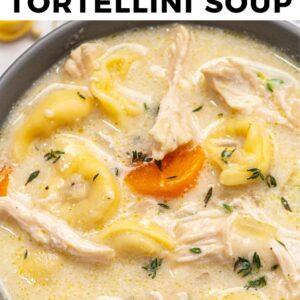 creamy chicken tortellini soup pinterest