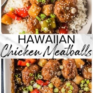 baked hawaiian chicken meatballs pinterest collage