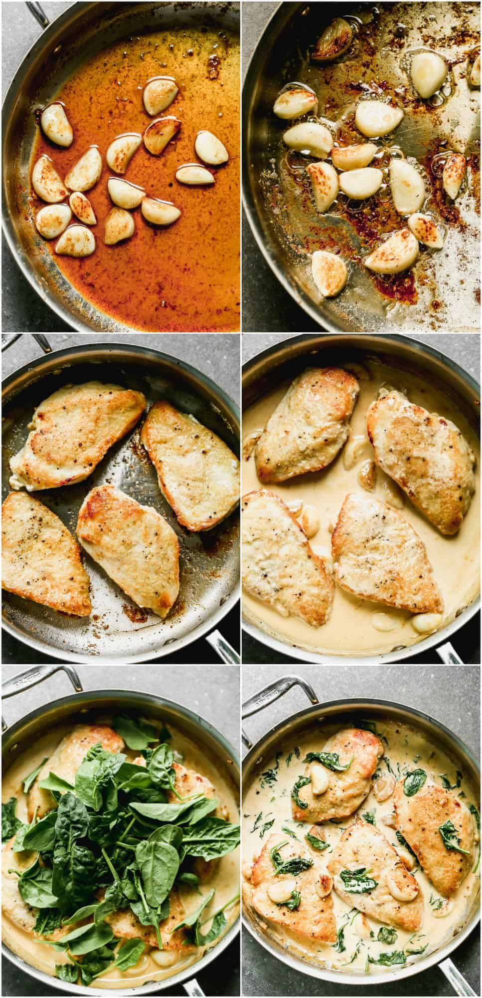 how to make garlic chicken step by step photos