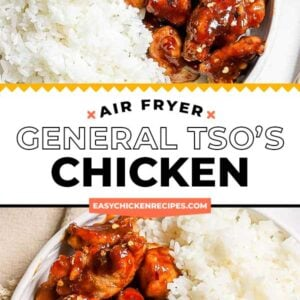 general tso's chicken pinterest collage