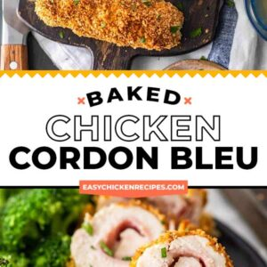 baked chicken cordon bleu pinterest collage