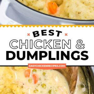chicken and dumplings pinterest collage