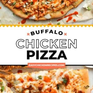 buffalo chicken pizza pinterest collage