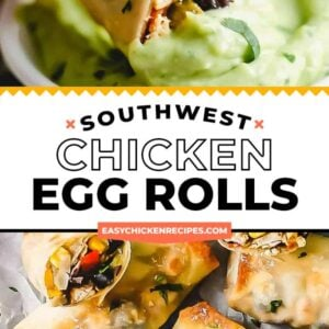 southwest chicken egg rolls pinterest collage