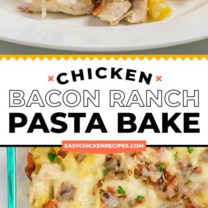 chicken bacon ranch pasta bake pinterest collage