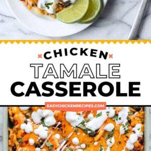 chicken tamale casserole pinterest collage
